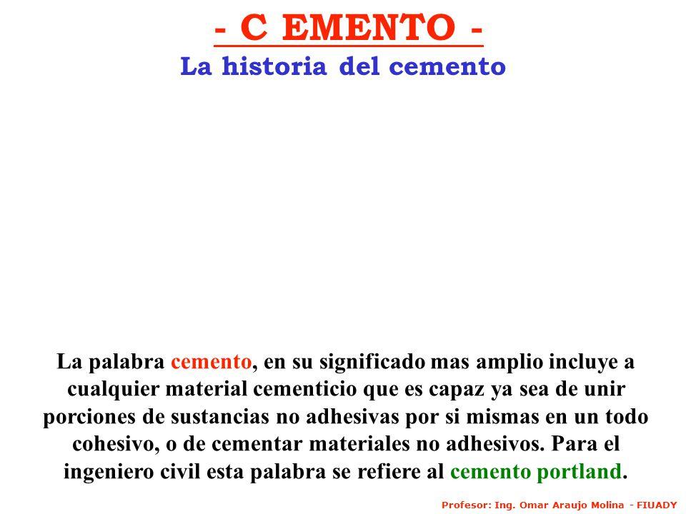 La historia del cemento