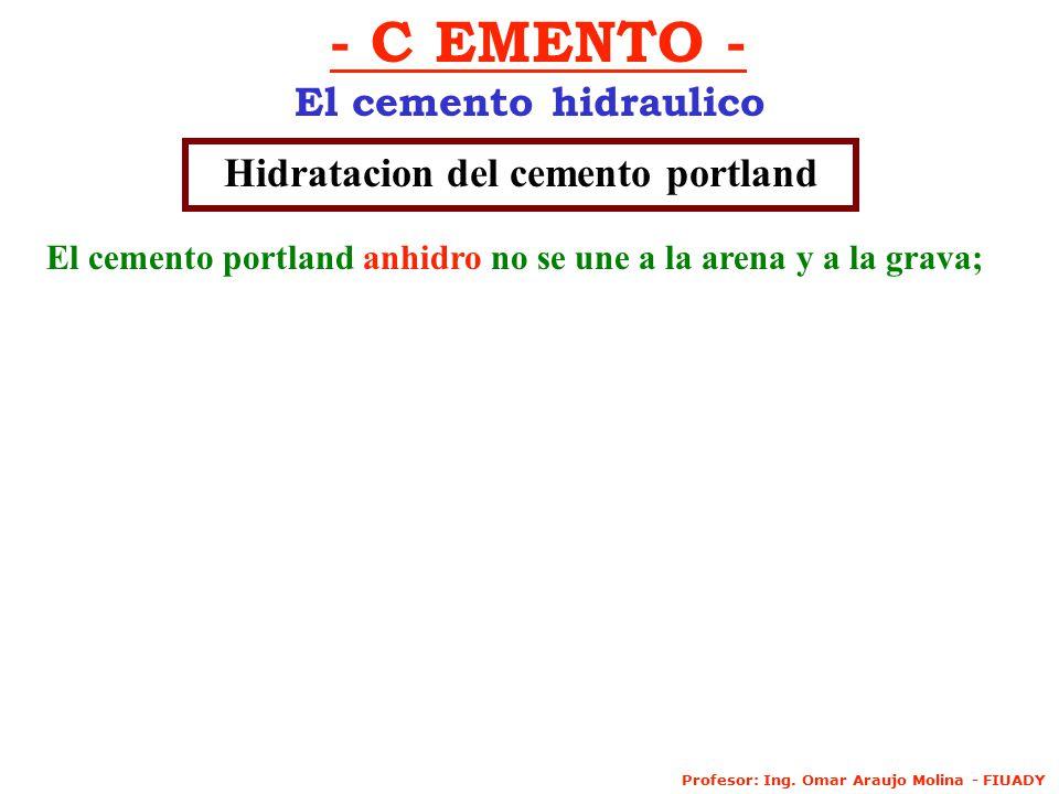 Hidratacion del cemento portland