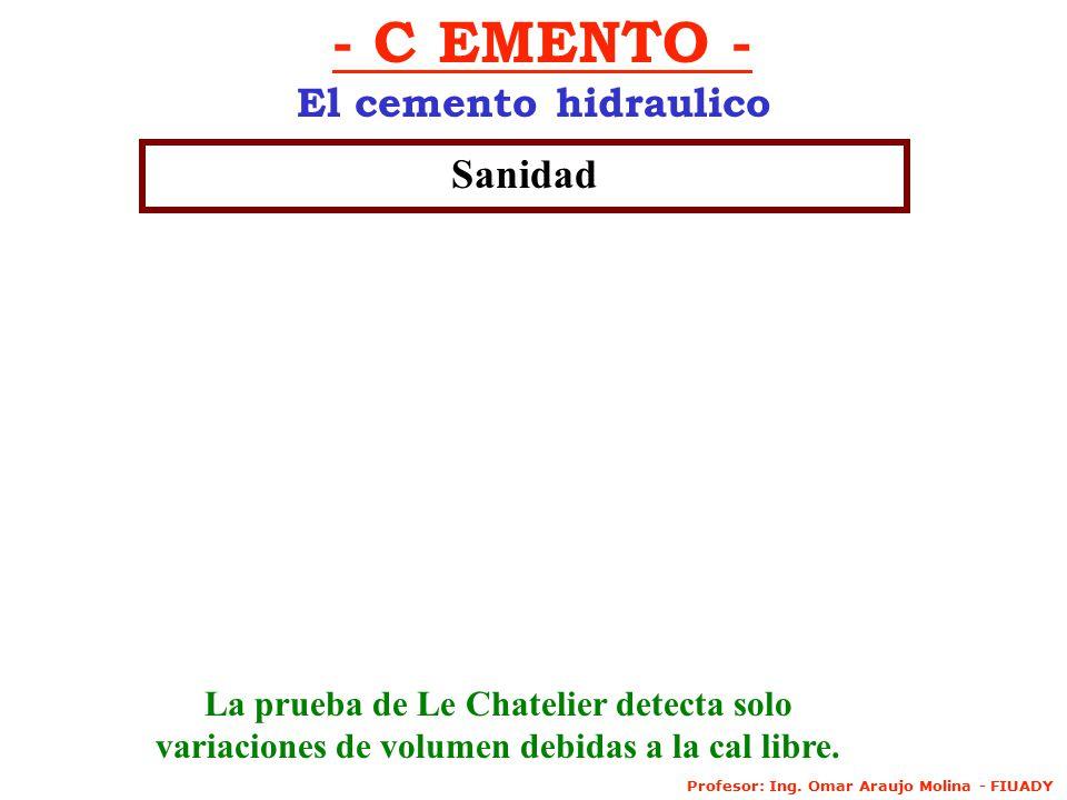 - C EMENTO - El cemento hidraulico Sanidad