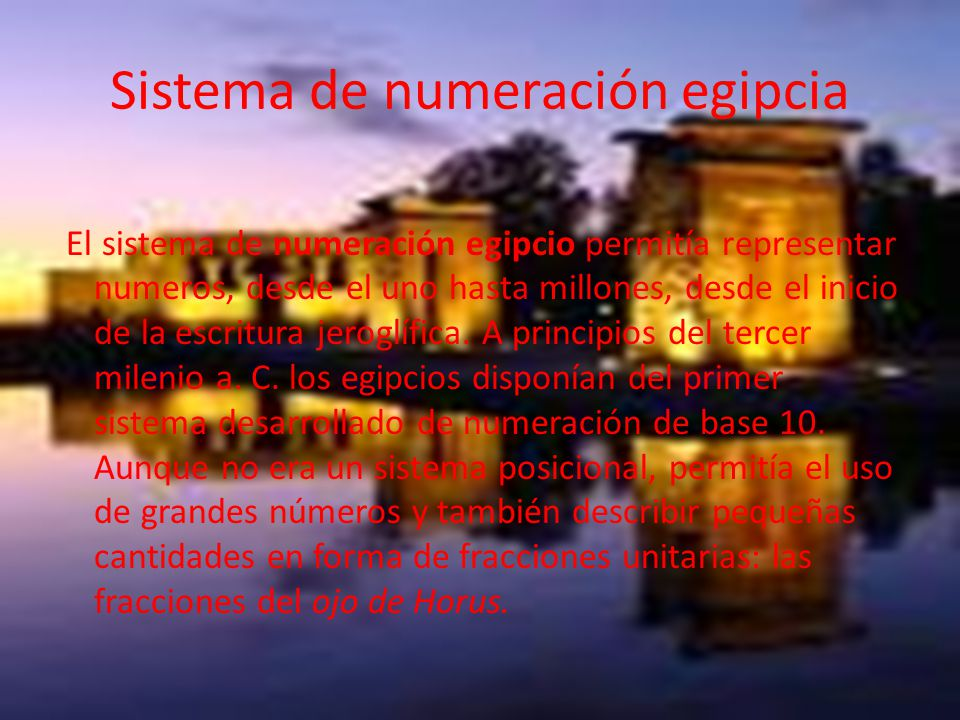 Sistema de numeración egipcia