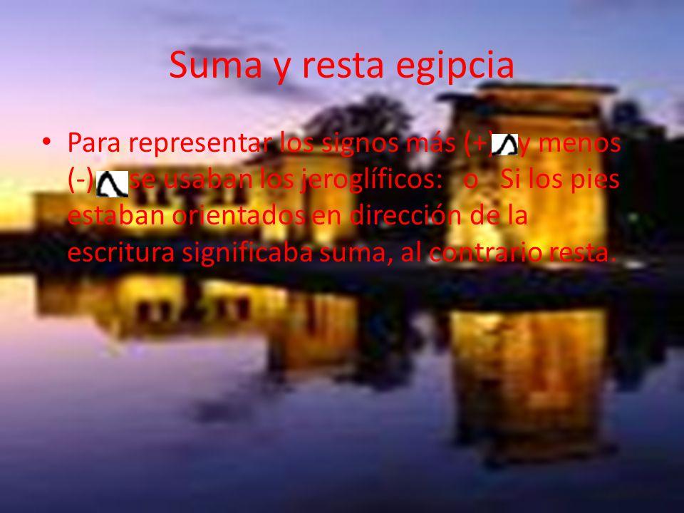 Suma y resta egipcia