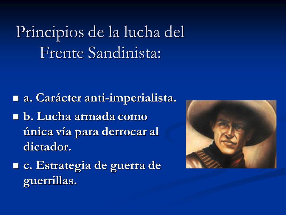 Principios de la lucha del Frente Sandinista: