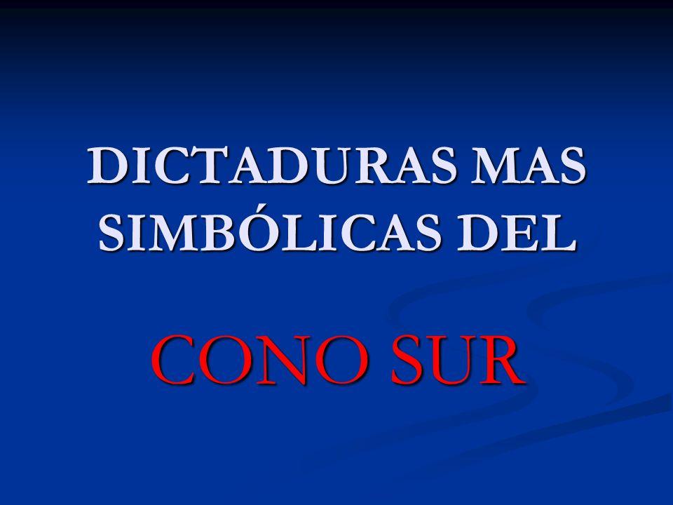 DICTADURAS MAS SIMBÓLICAS DEL