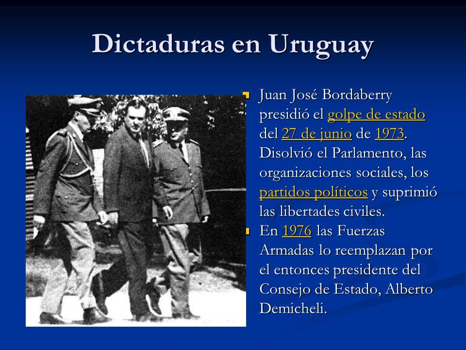 Dictaduras en Uruguay