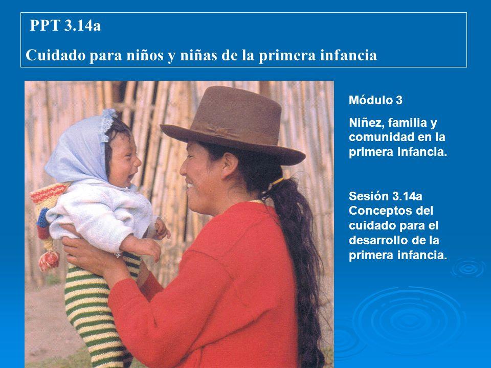 Cuidado para niños y niñas de la primera infancia