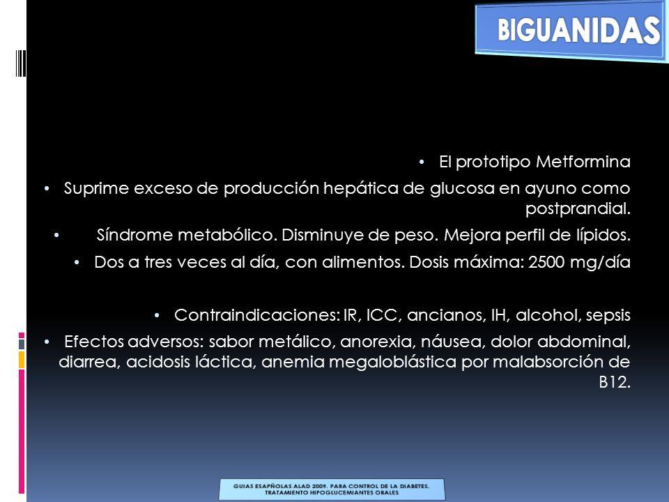 BIGUANIDASSECRETAGOGOS. TIAZONILINEDIONAS. INHIBIDORES ALFA GLUCOSIDASA. ANALOGOS DE LA GLP-1. INHIBIDORES DE LA DPP-4.