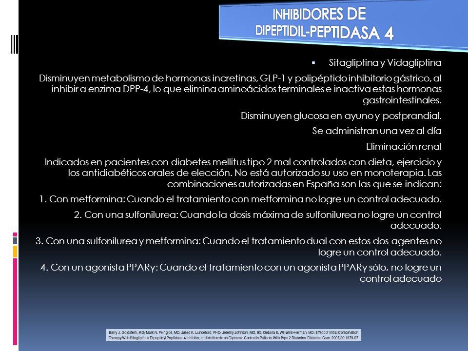 INHIBIDORES DE a GLUCOSIDASA Acarbosa y miglitol