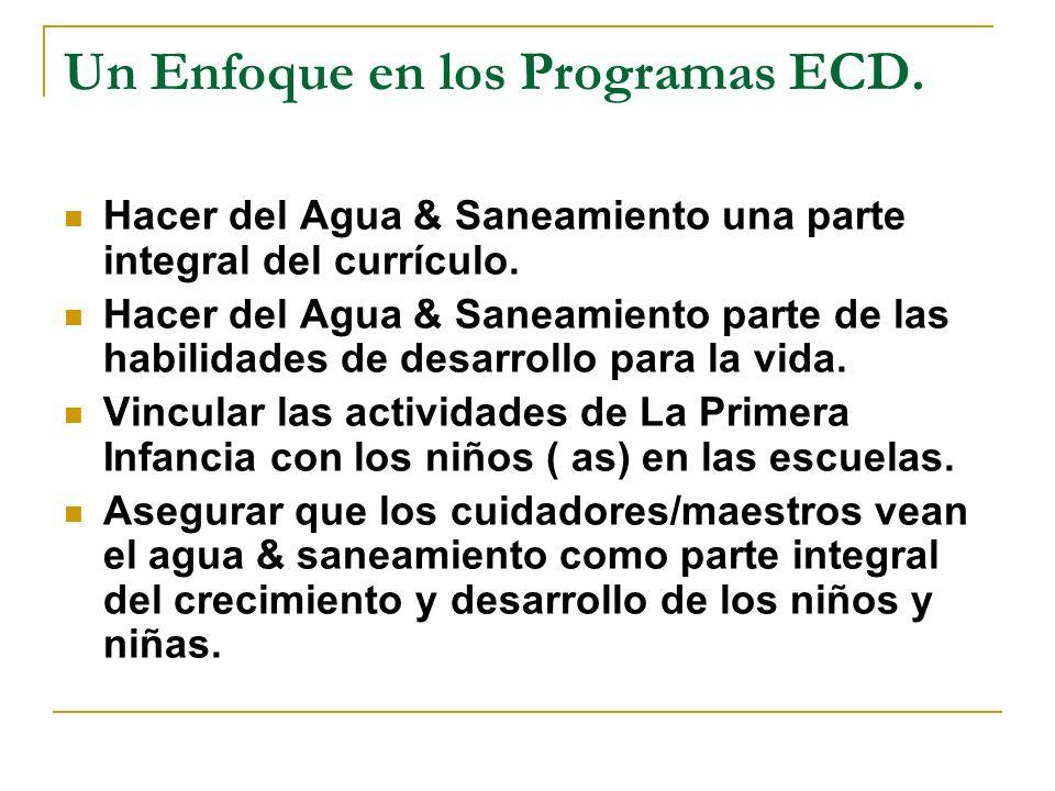 Un Enfoque en los Programas ECD.
