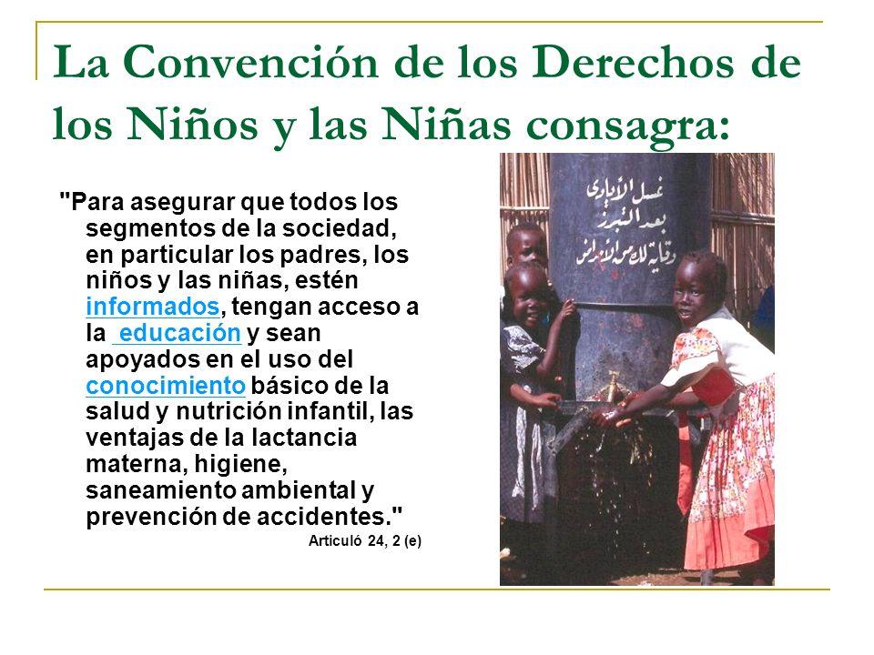 La Convención de los Derechos de los Niños y las Niñas consagra: