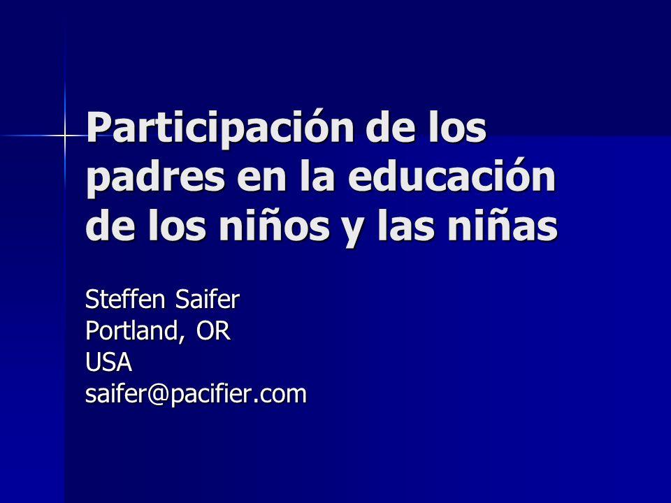 Participación de los padres en la educación de los niños y las niñas