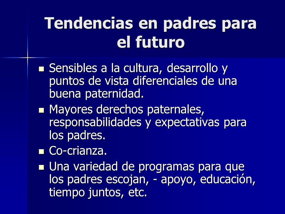 Tendencias en padres para el futuro