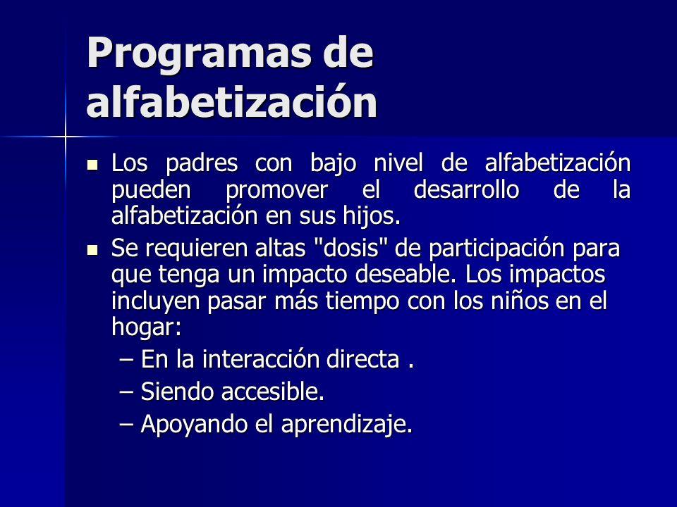 Programas de alfabetización