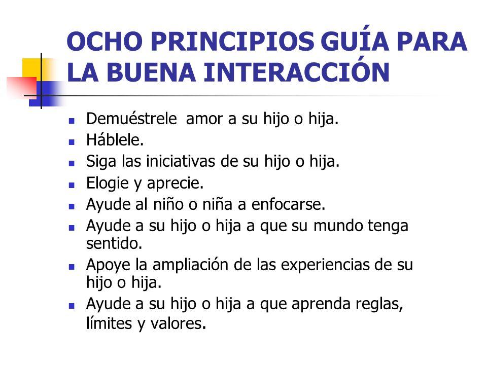 OCHO PRINCIPIOS GUÍA PARA LA BUENA INTERACCIÓN