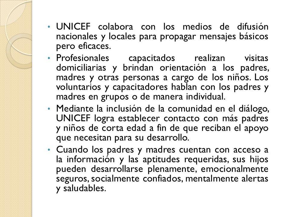 UNICEF colabora con los medios de difusión nacionales y locales para propagar mensajes básicos pero eficaces.