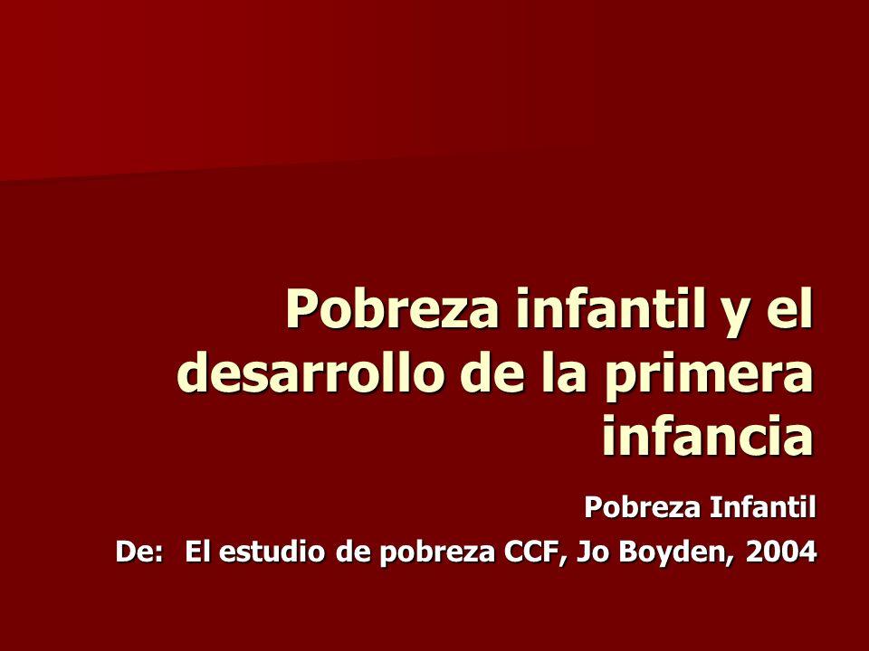 Pobreza infantil y el desarrollo de la primera infancia
