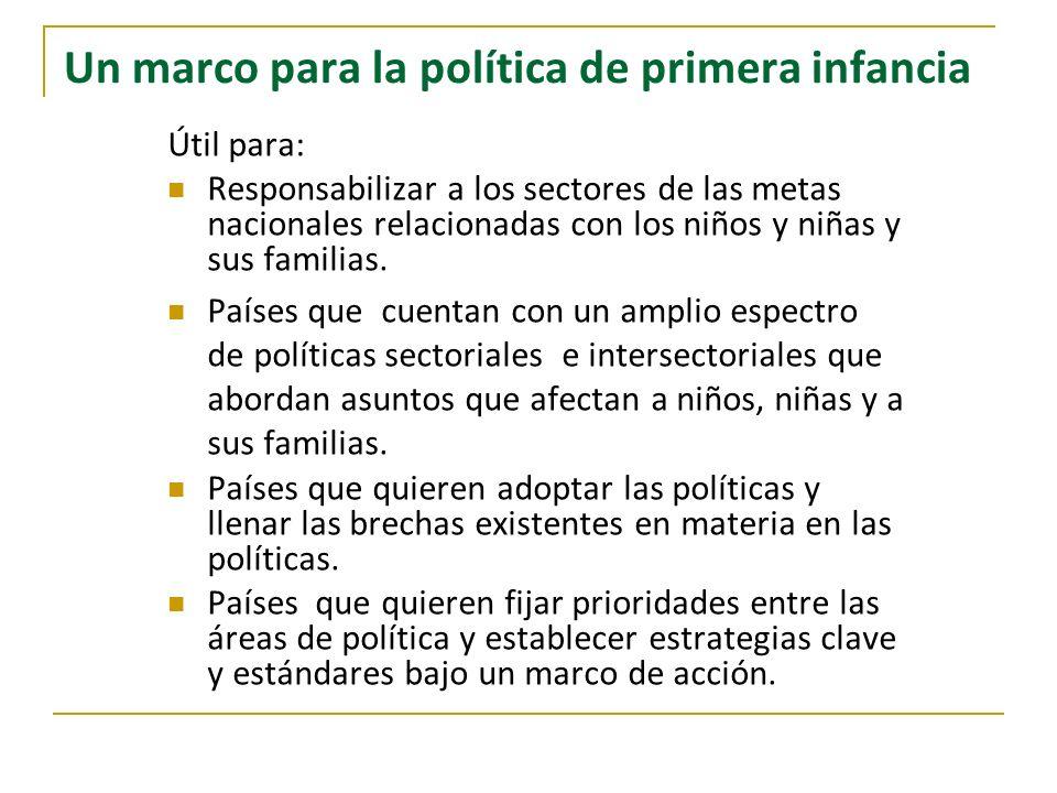 Un marco para la política de primera infancia