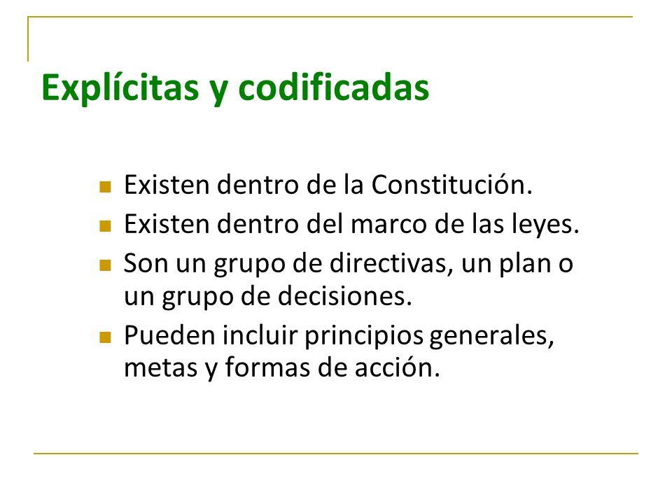 Explícitas y codificadas