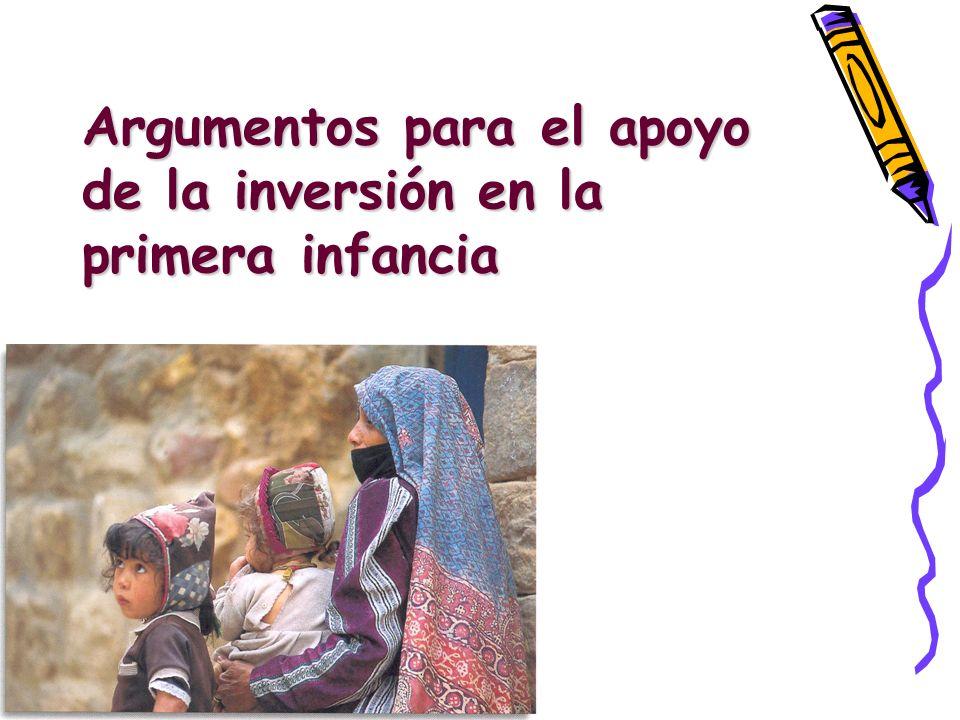 Argumentos para el apoyo de la inversión en la primera infancia