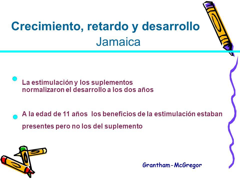Crecimiento, retardo y desarrollo Jamaica