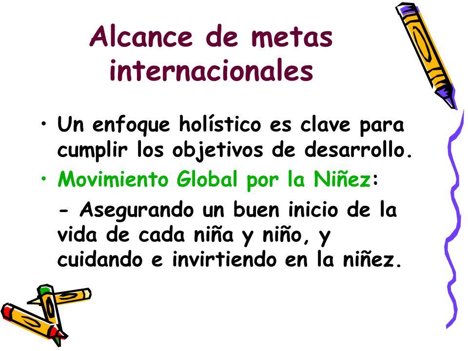 Alcance de metas internacionales