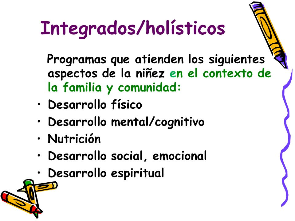 Integrados/holísticos
