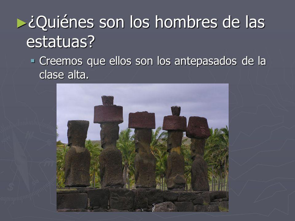 ¿Quiénes son los hombres de las estatuas