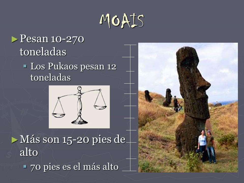 MOAIS Pesan 10-270 toneladas Más son 15-20 pies de alto