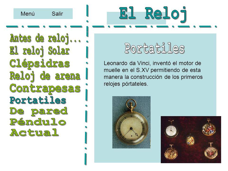 El Reloj Antes de reloj... Portatiles El reloj Solar Clépsidras