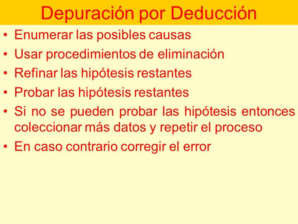 Depuración por Deducción