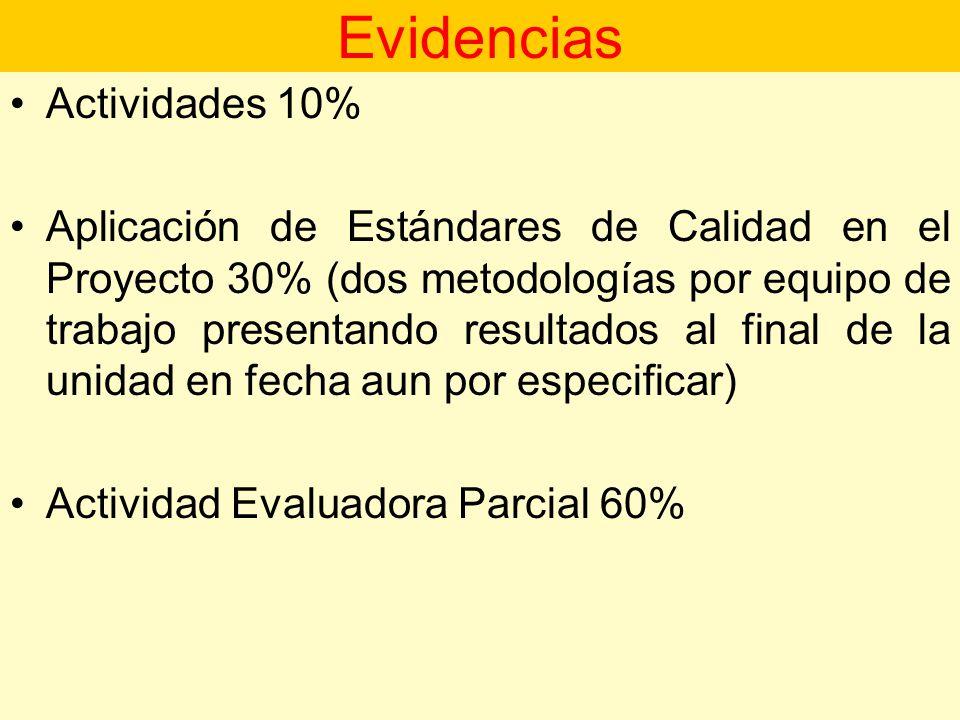 Evidencias Actividades 10%