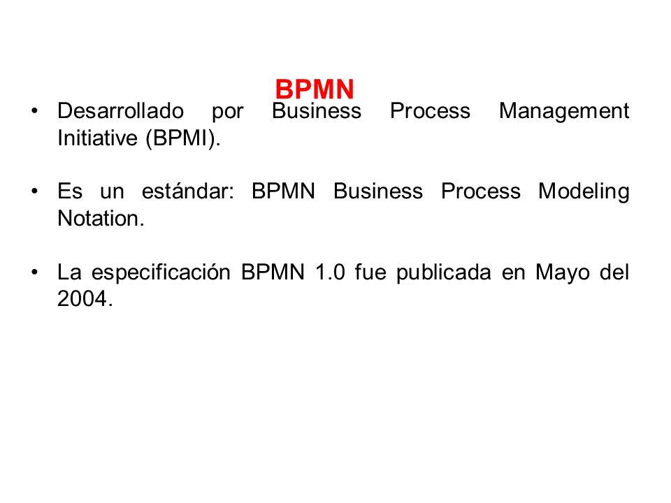 BPMN Desarrollado por Business Process Management Initiative (BPMI).