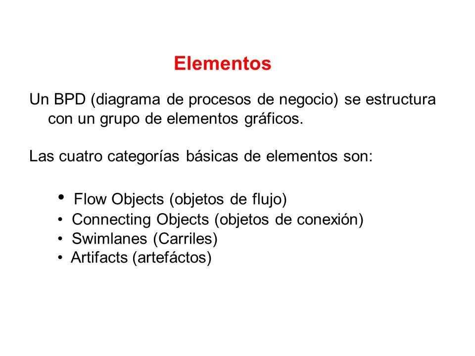 • Flow Objects (objetos de flujo)