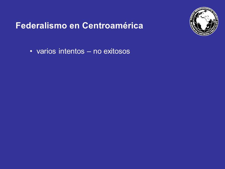 Federalismo en Centroamérica