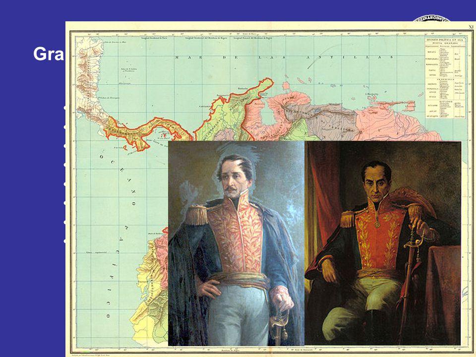Gran Colombia Territorio ¿Historia y personajes Funccionamiento