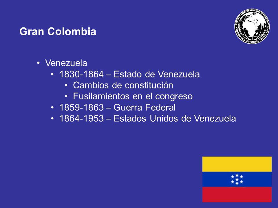 Gran Colombia Venezuela 1830-1864 – Estado de Venezuela