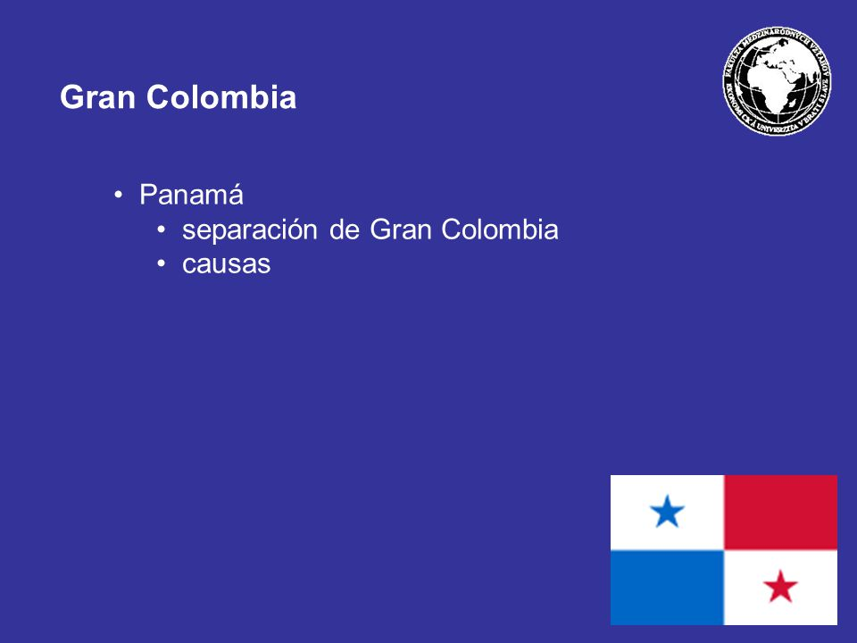 Gran Colombia Panamá separación de Gran Colombia causas