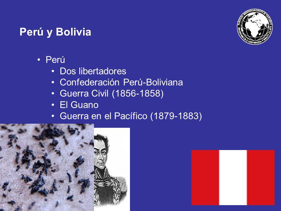 Perú y Bolivia Perú Dos libertadores Confederación Perú-Boliviana