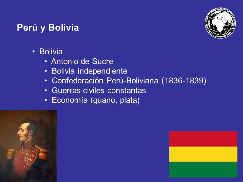 Perú y Bolivia Bolivia Antonio de Sucre Bolivia independiente