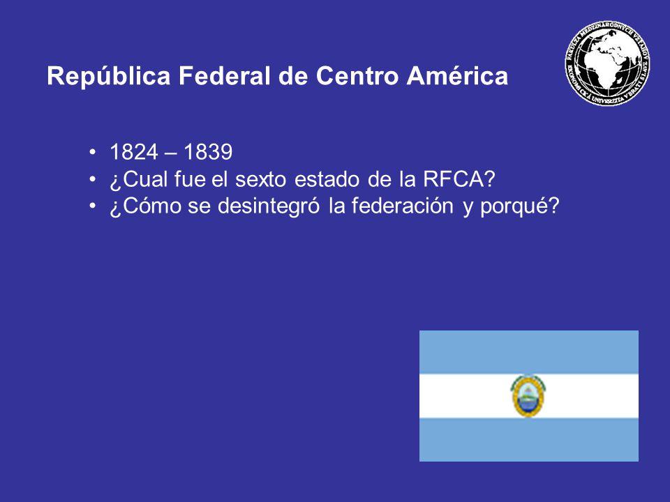 República Federal de Centro América