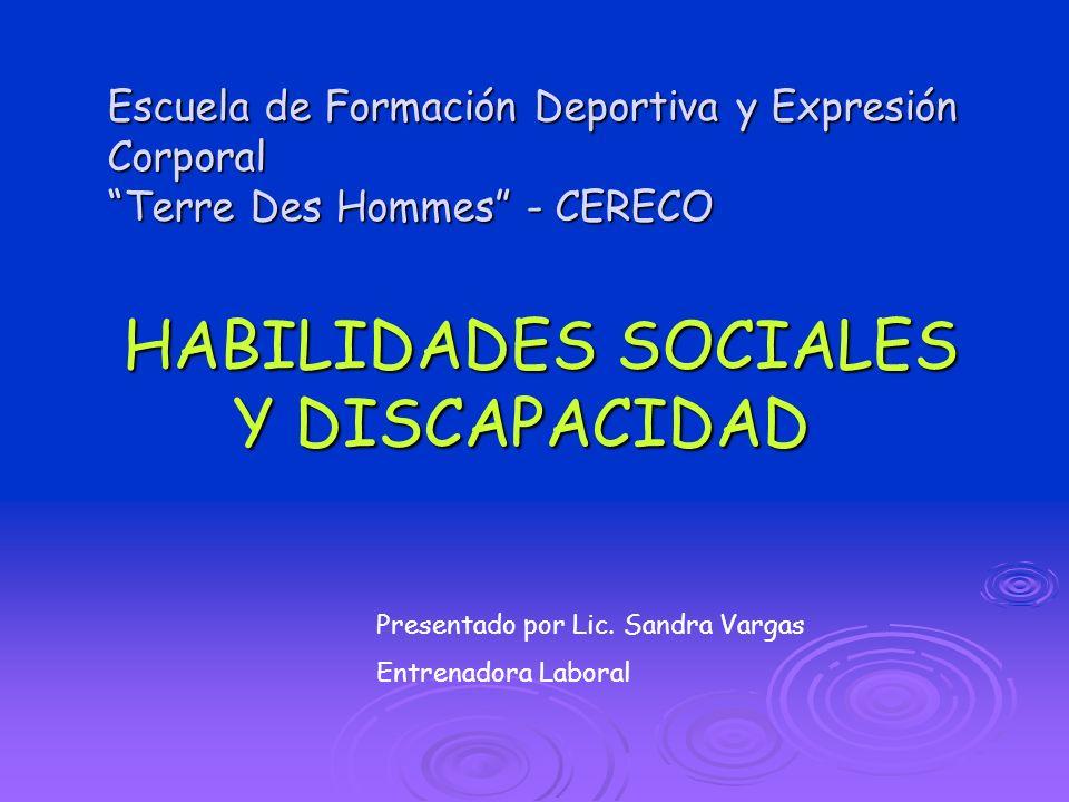 HABILIDADES SOCIALES Y DISCAPACIDAD