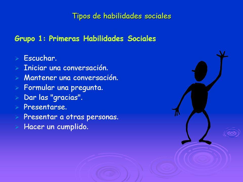 Tipos de habilidades sociales
