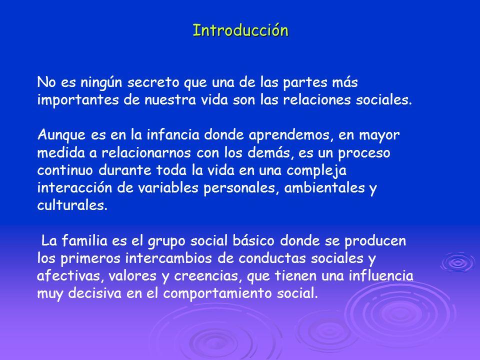 Introducción No es ningún secreto que una de las partes más importantes de nuestra vida son las relaciones sociales.