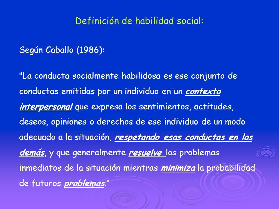 Definición de habilidad social: