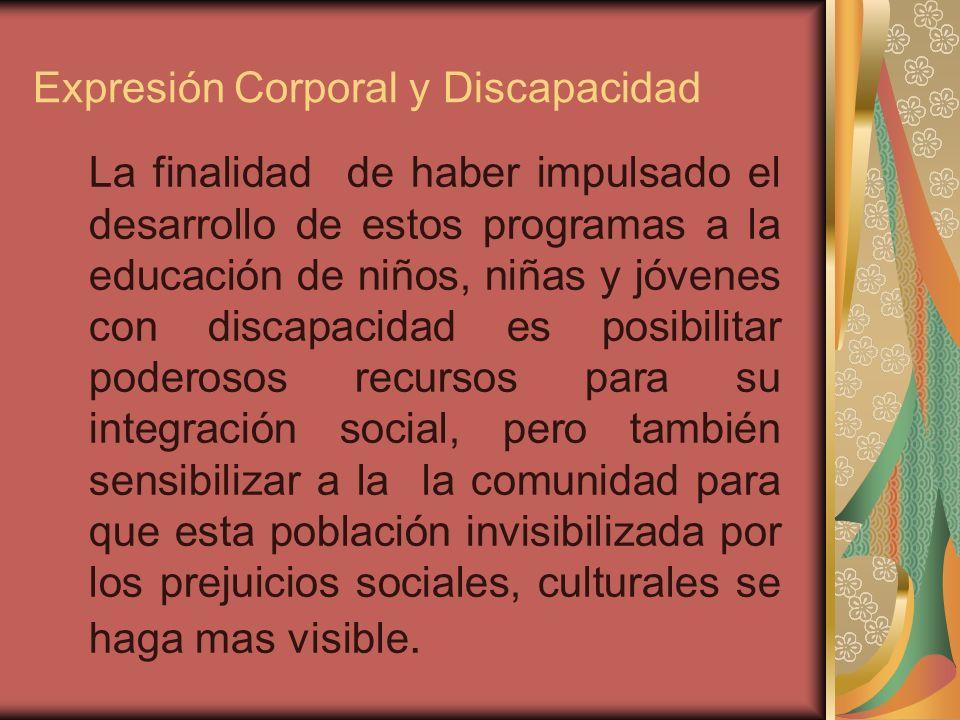 Expresión Corporal y Discapacidad