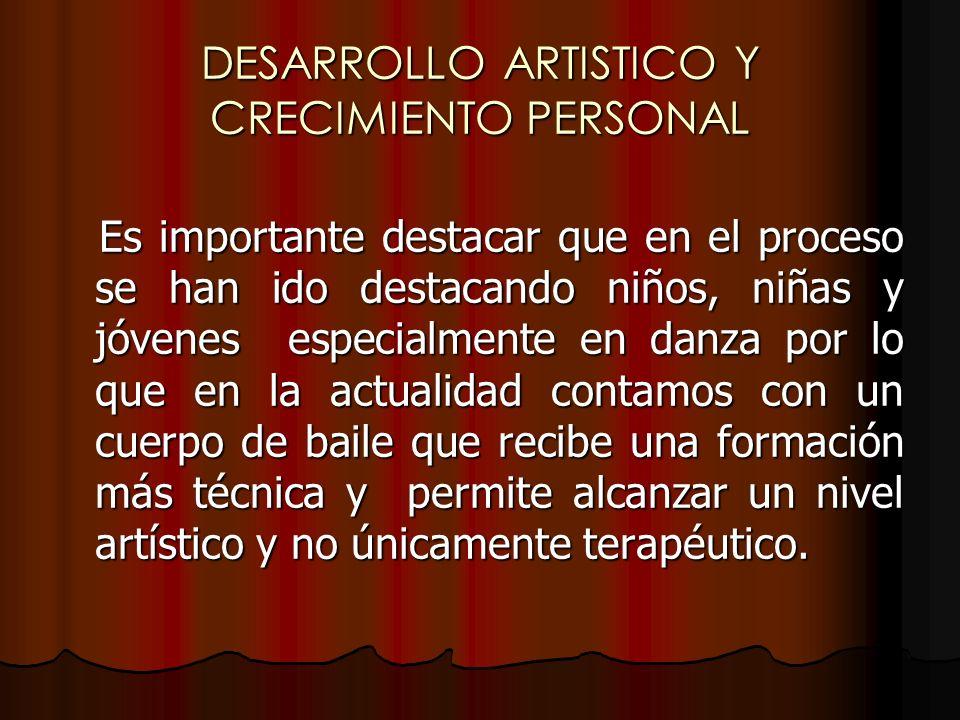 DESARROLLO ARTISTICO Y CRECIMIENTO PERSONAL