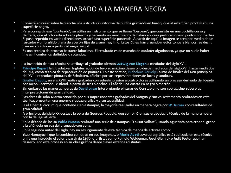 GRABADO A LA MANERA NEGRA