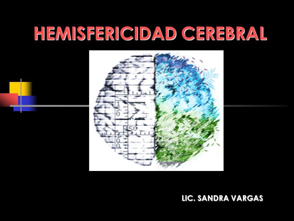HEMISFERICIDAD CEREBRAL