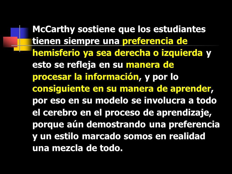 McCarthy sostiene que los estudiantes
