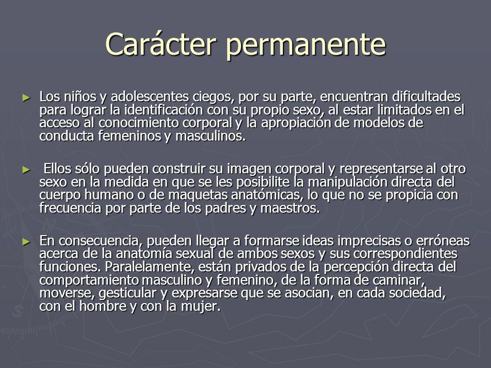 Carácter permanente