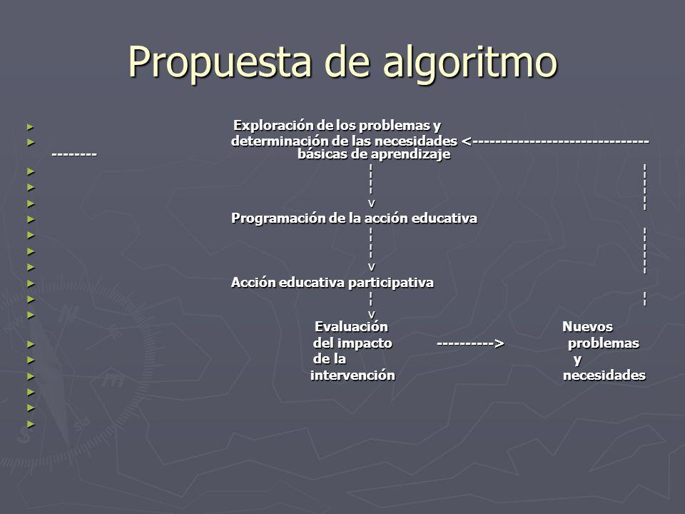 Propuesta de algoritmo